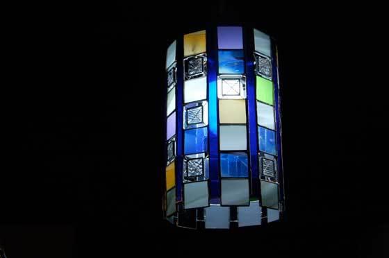 クリスタル(ステンドグラスの吊りランプ)(ペンダントライト) 01010022