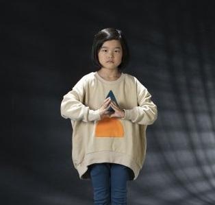 arkakama アルカカマ ROUND Sweatshirt ▲HALF● col:L.BEIGE size:S(2-3Y)(100)・M(4-5Y)(110)