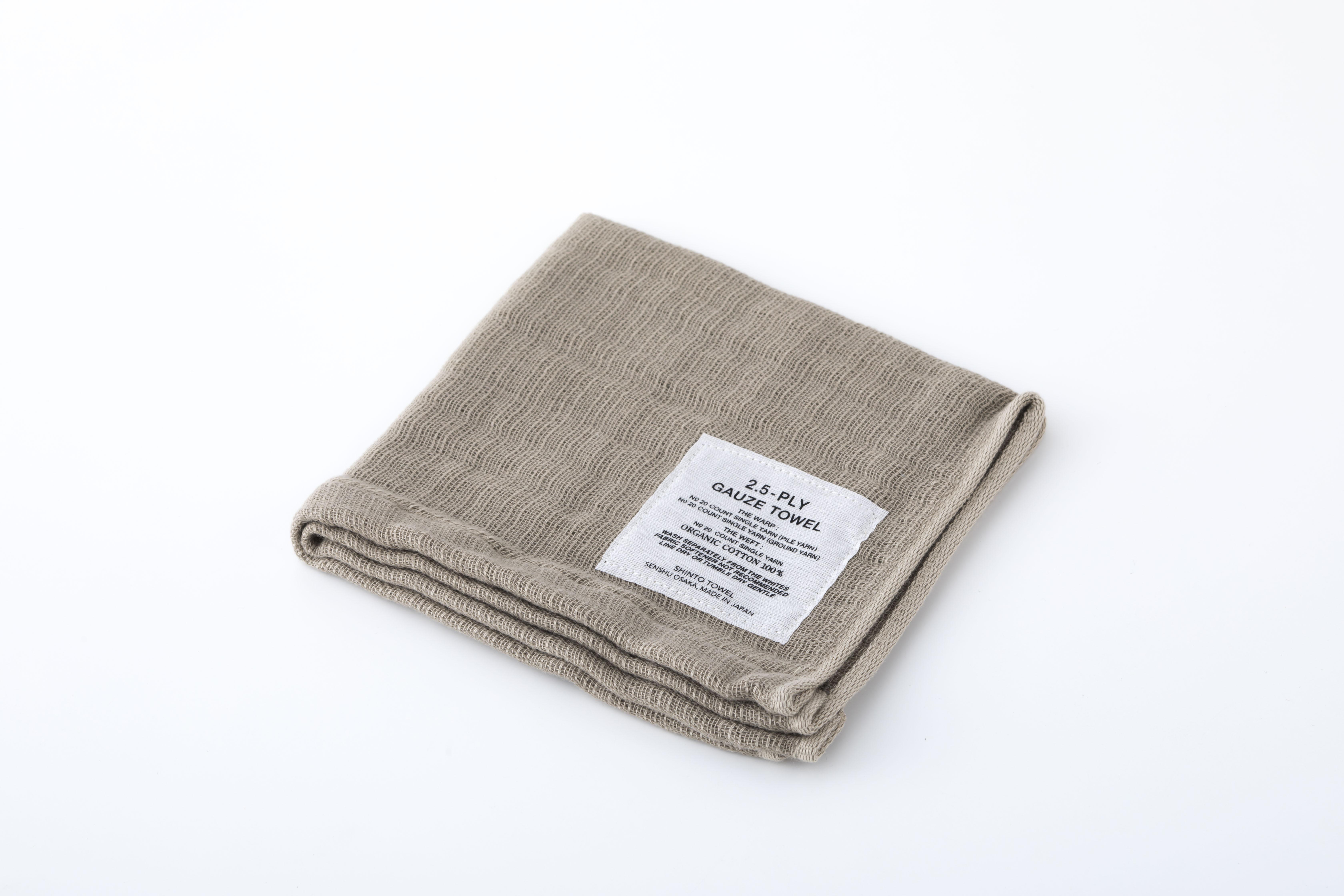 2.5-PLY GAUZE TOWEL:HANDY TOWEL (Beige) / SHINTO TOWEL