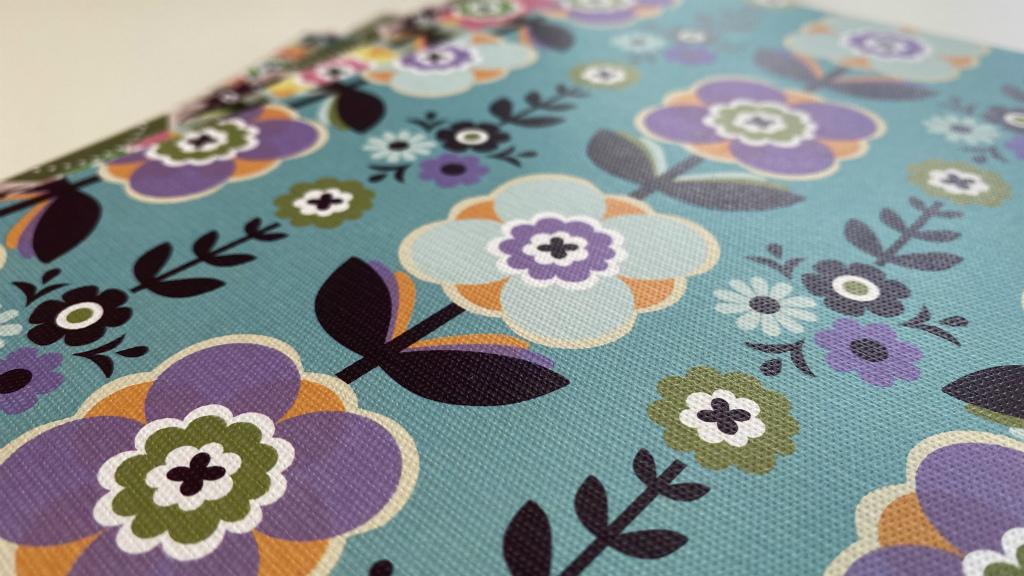 着せ替え表紙「HAOLi-羽織-」(A5ノート用1枚)チロルフラワー(ブルー系)