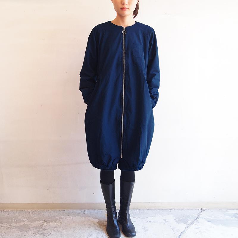 ■ジップアップ ライダーコート/青藍色
