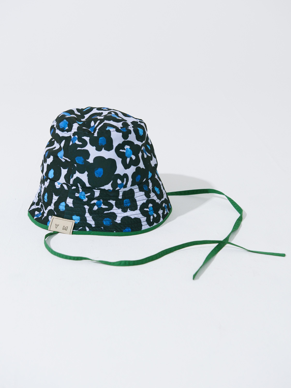"ch-05 ""BLACK FLOWERS"" PRINT BUCKET HAT"
