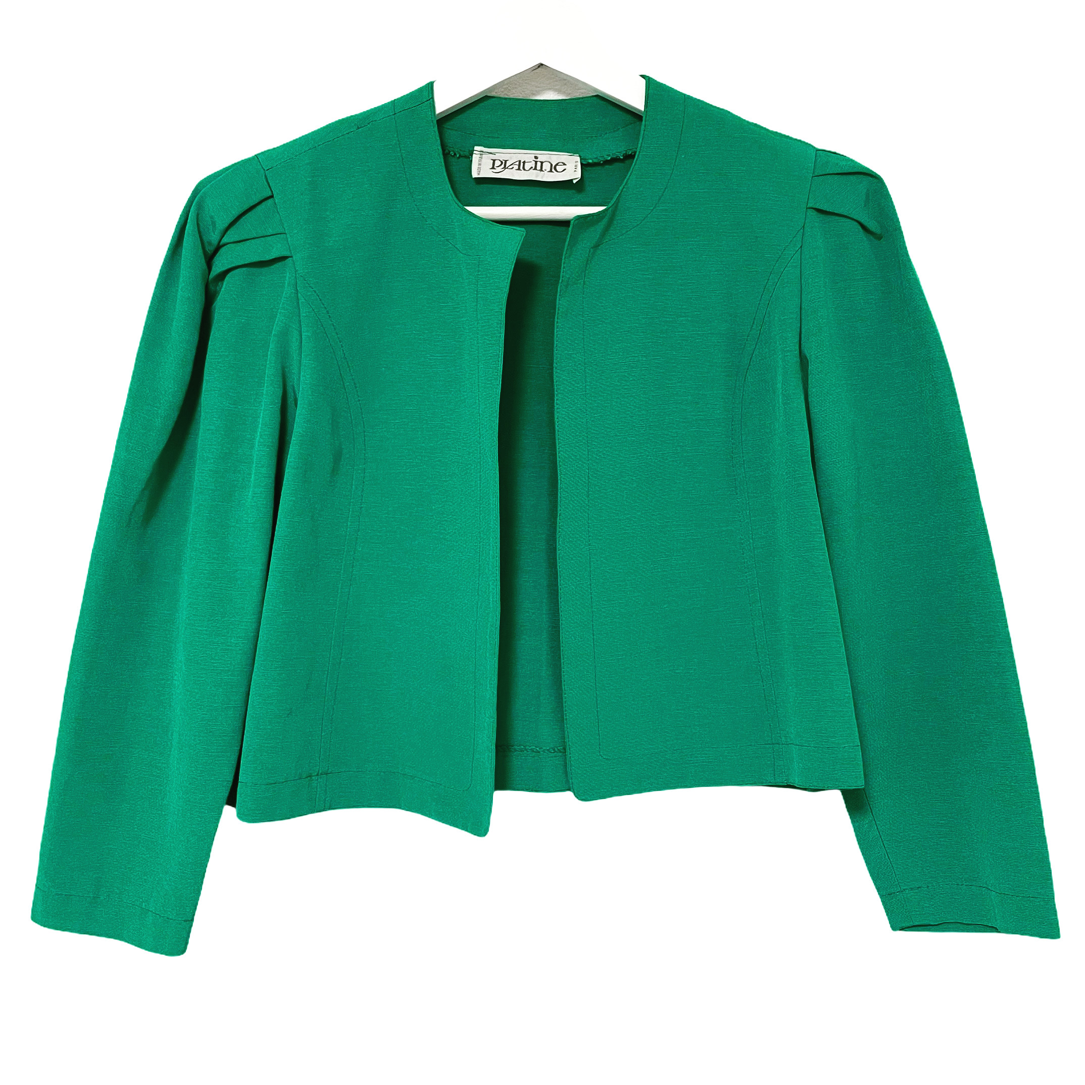 80's PLAtine Green Short Jacket made in France
