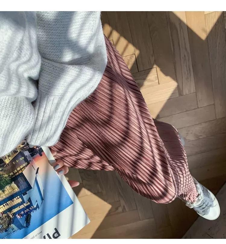 〈リクエストアイテム〉プリーツベロアパンツ【pleats velour pants】