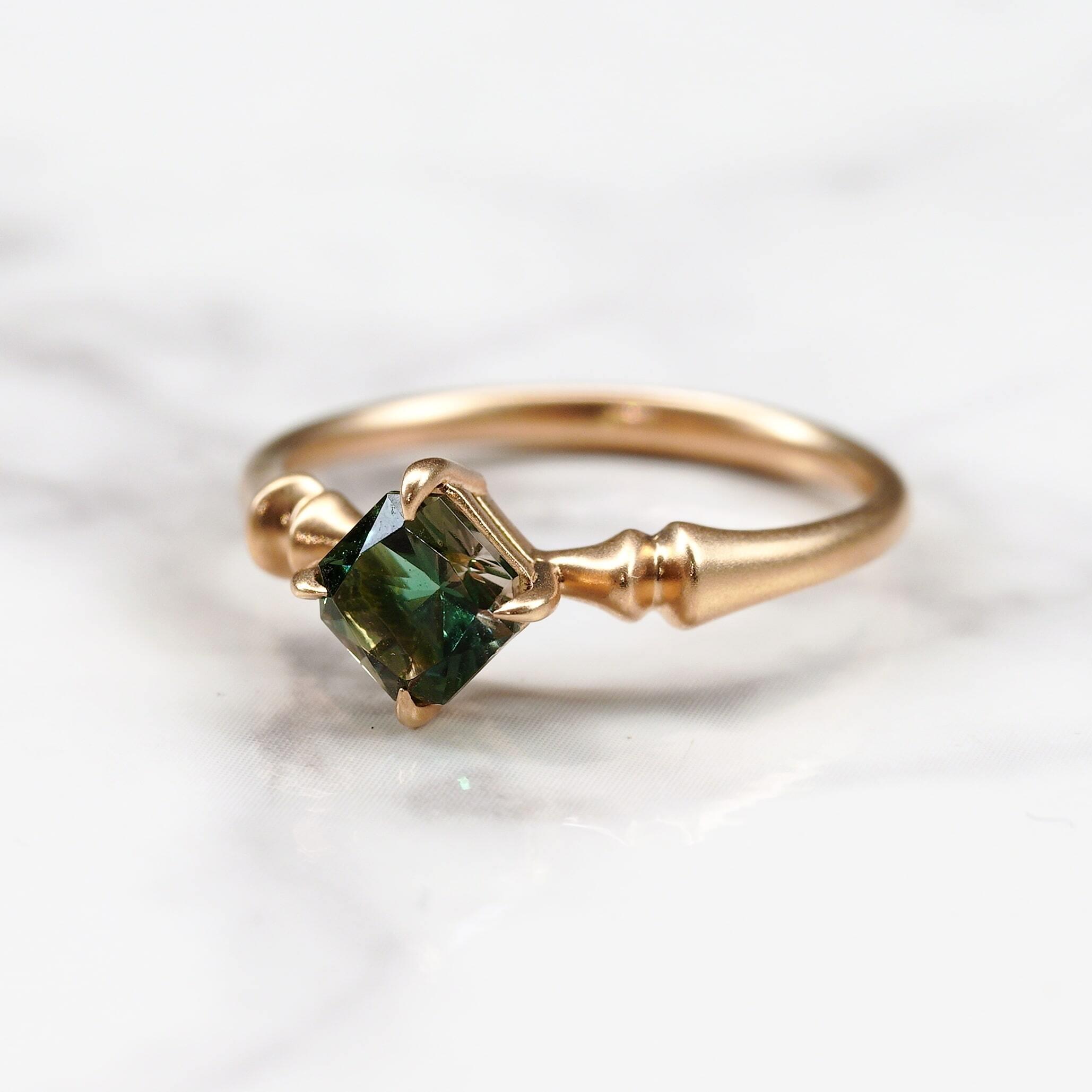 Oregon sunstone ring /K18YG