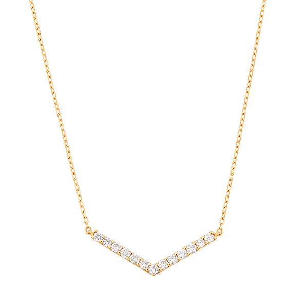K18YGダイヤモンドネックレス 020201009170