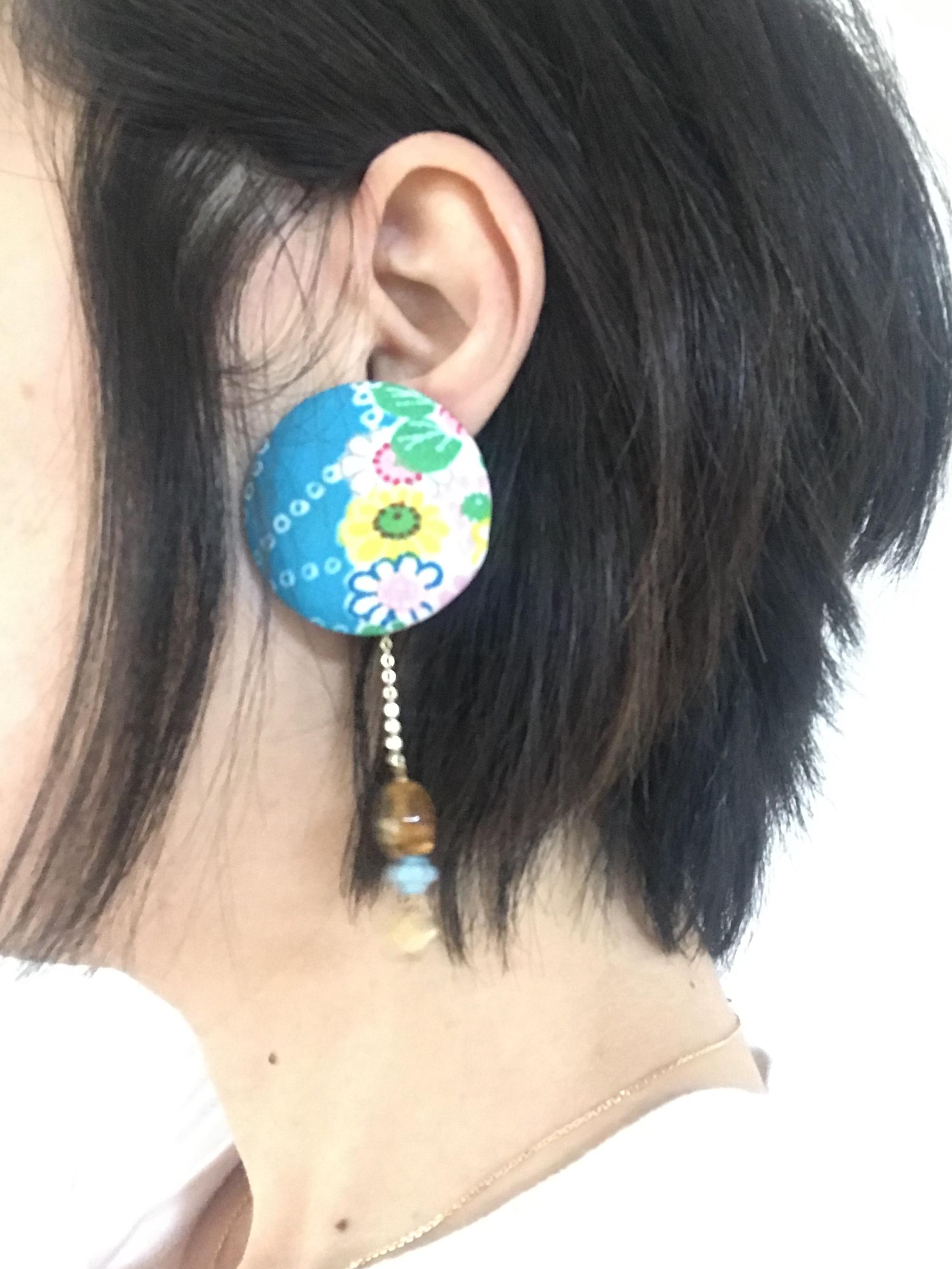 glacne+ 襟締ピアス(レトロ・ヒョウ柄−1)-15