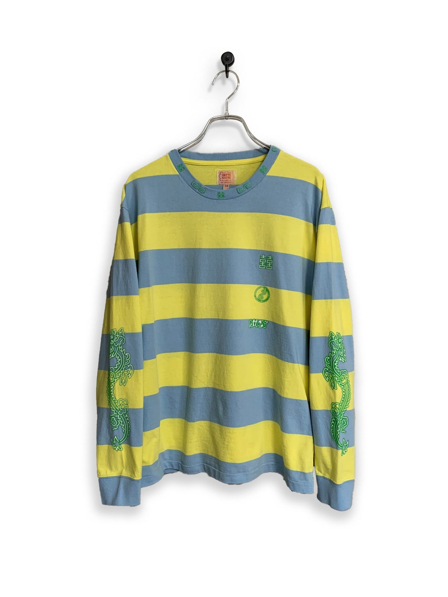 Original Long Sleeve border-T /yellow×sax