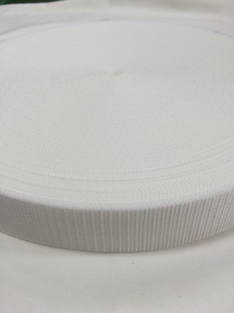 PPテープ 25mm幅 1.2㎜厚 白 5m単位