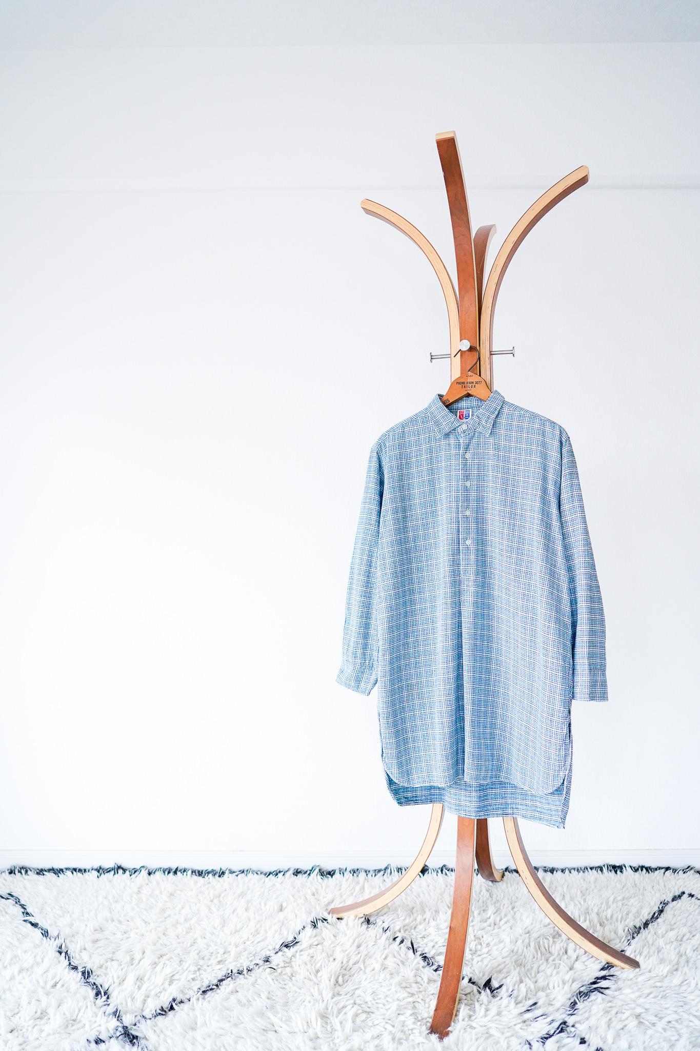 "【1950-60s】""Germany Made"" Euro Vintage Grandpa Shirts / v591"