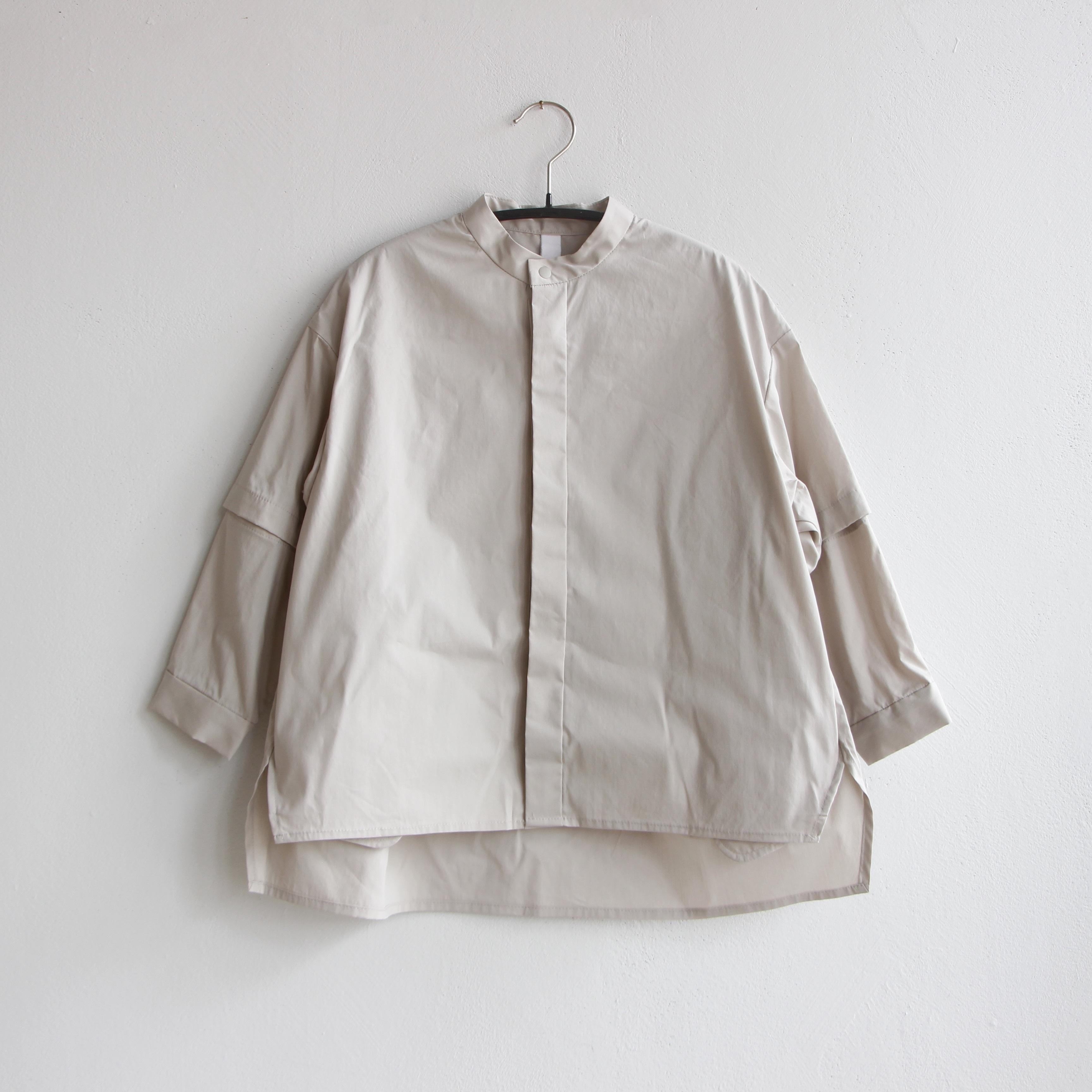 《MOUNTEN. 2021AW》detachable shirts / greige