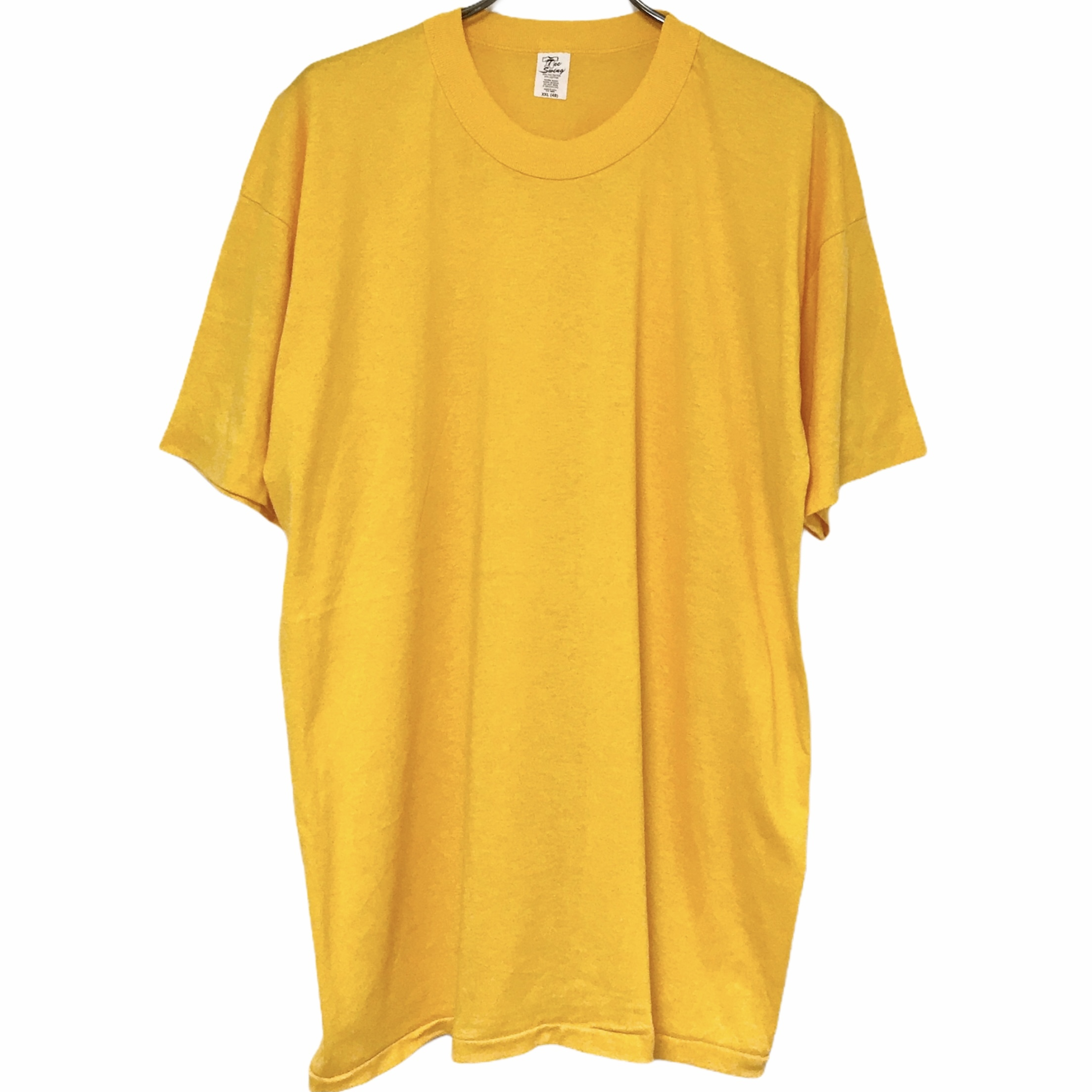 Dead Stock! 80's Tee Swing T-shirt made in USA Yellow