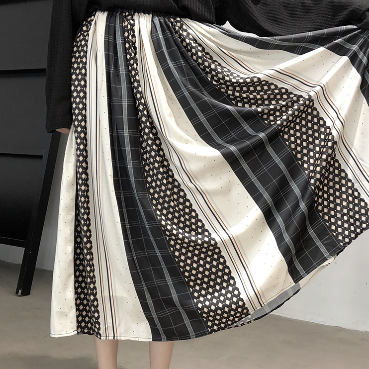 Aラインドレープスカート   1-160