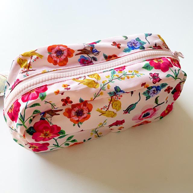 Nathalie Lete Oblong pouch Flower&birds ナタリーレテ ポーチ バード 花柄 鳥