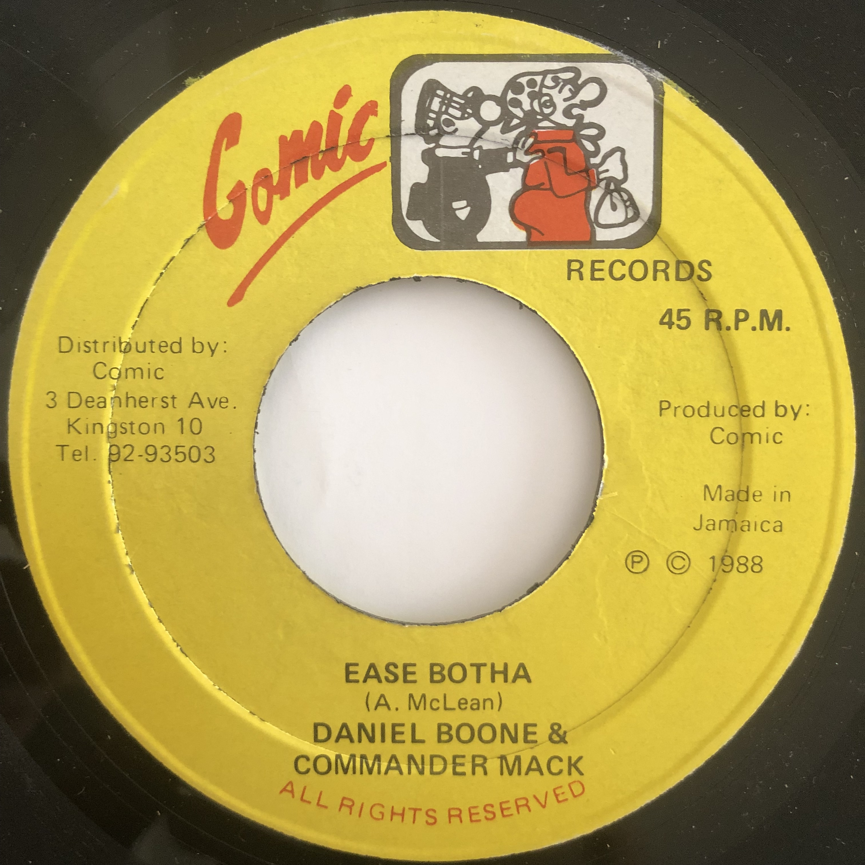 Daniel Boone, Commander Mack ‎- Ease Botha【7-20167】