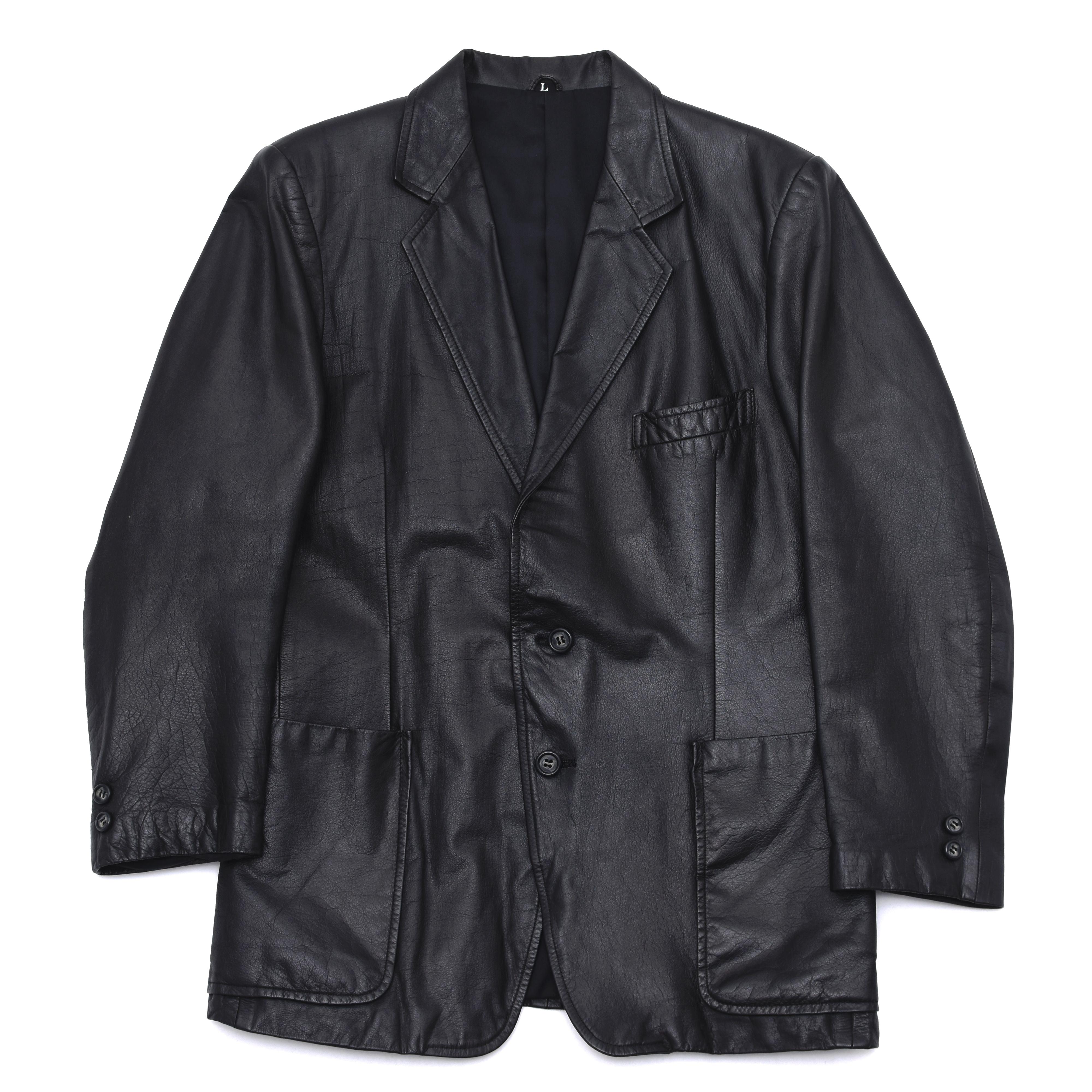 Vintage black cowhide tailored jacket