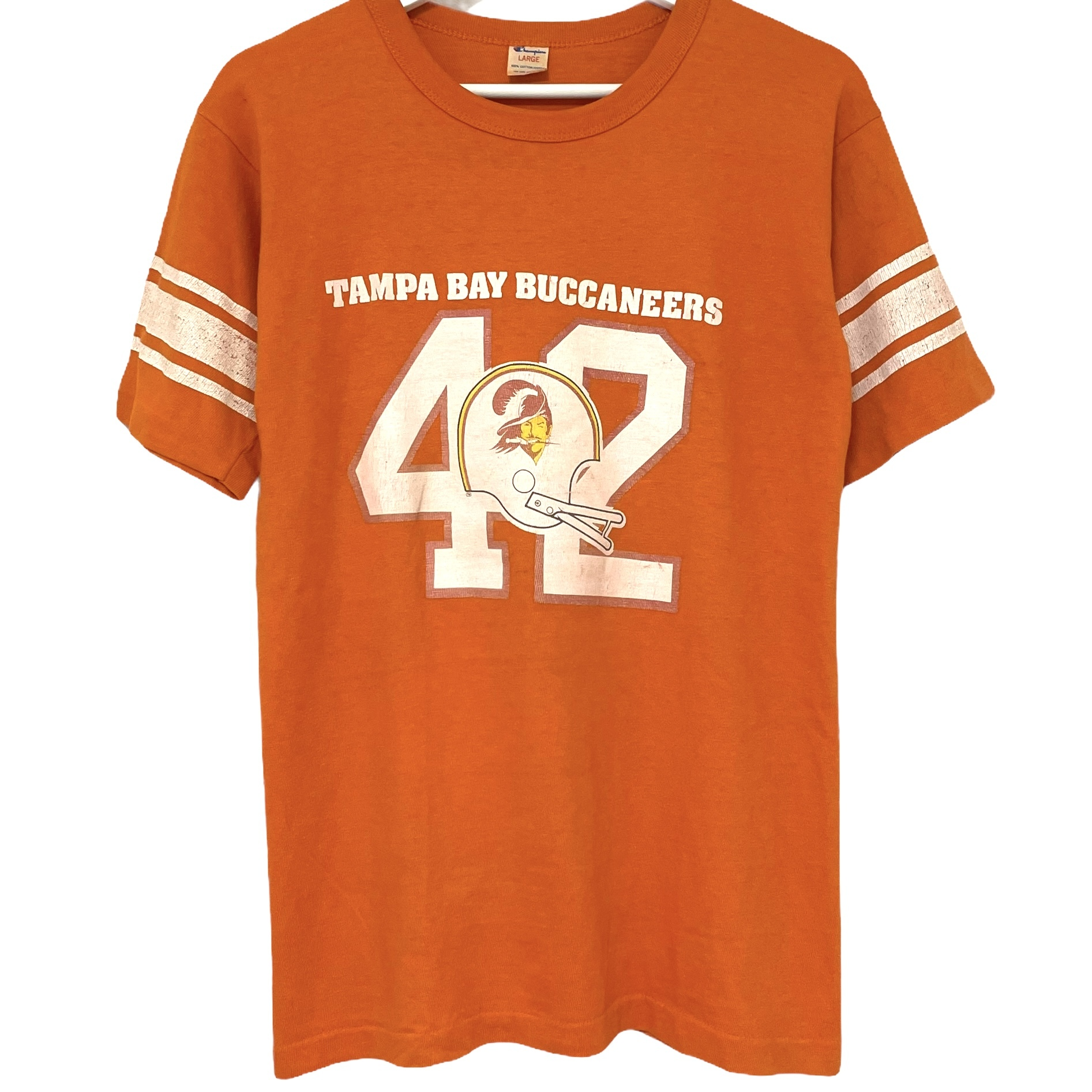 70's Champion Football T TAMPA BAY BUCCANEERS【L】