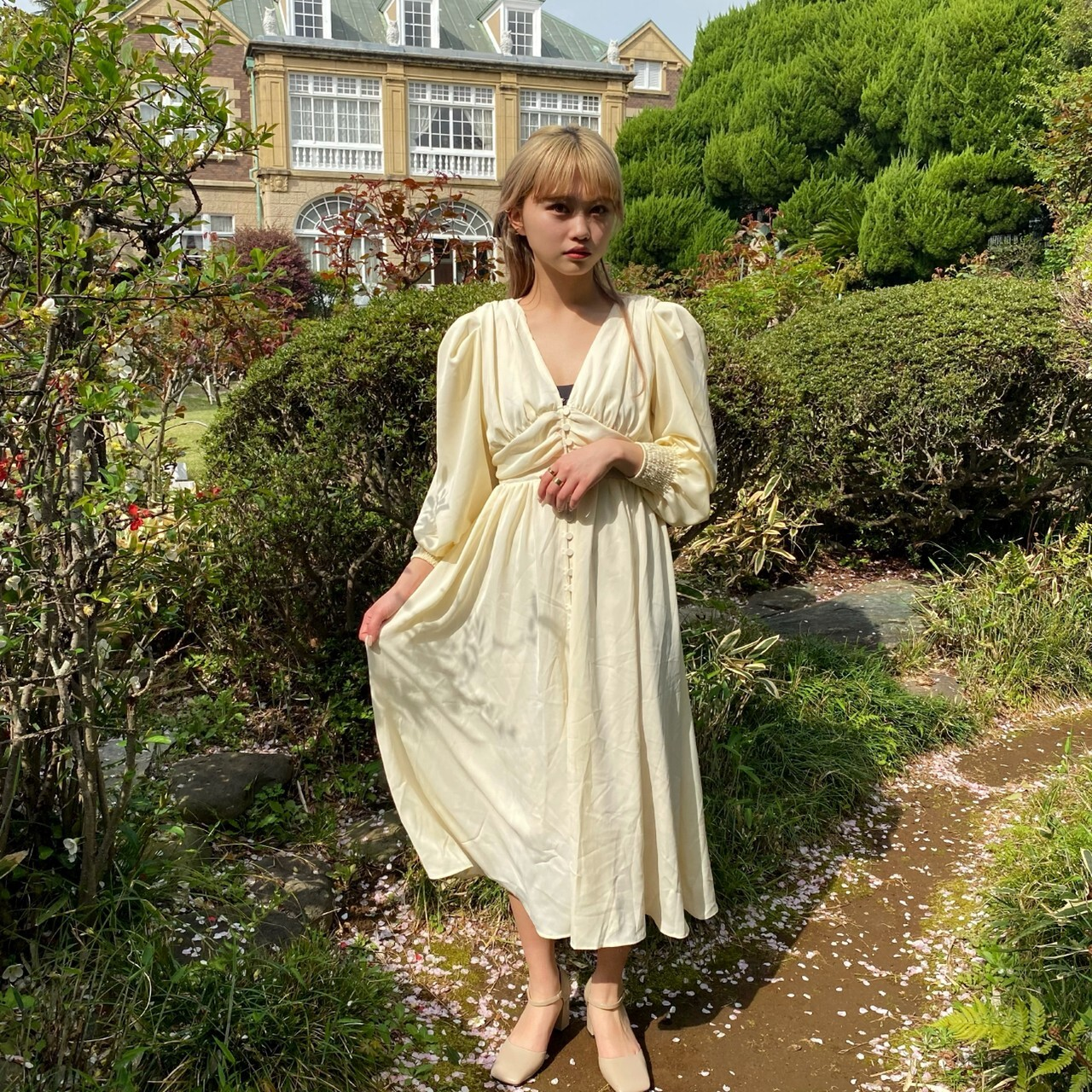 【Belle jour】long gather onepiece