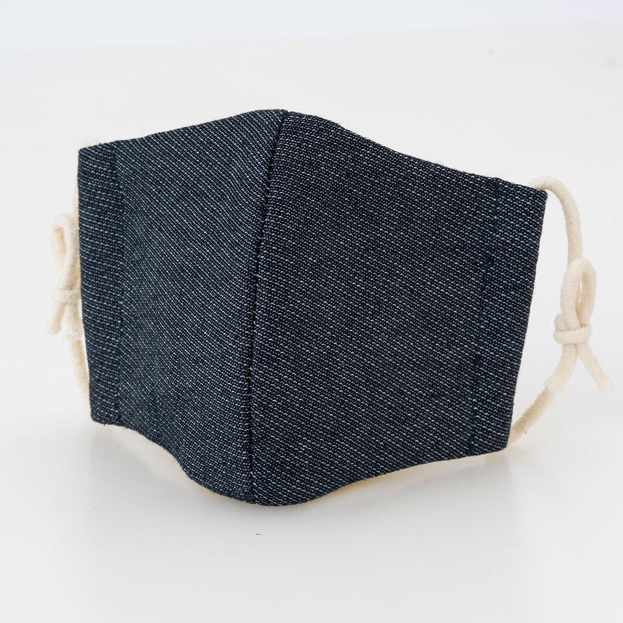 【子ども用】岡山デニムマスク ※耳掛けゴムひも2セット付(本体付属1セット+取替え用1セット)