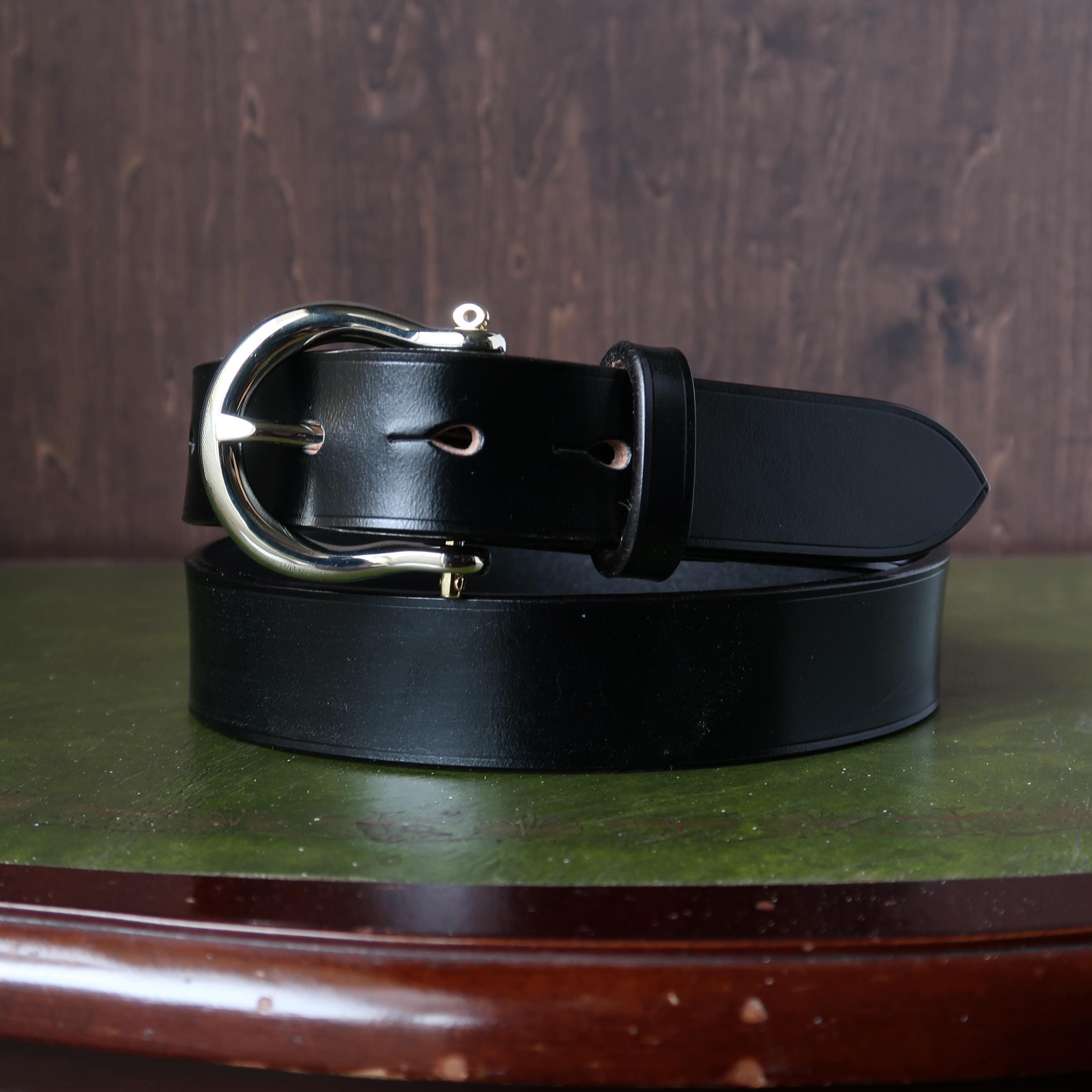 SHACKLE BUCKLE BELT シャックルバックルベルト UKブライドルレザー一枚革ベルト