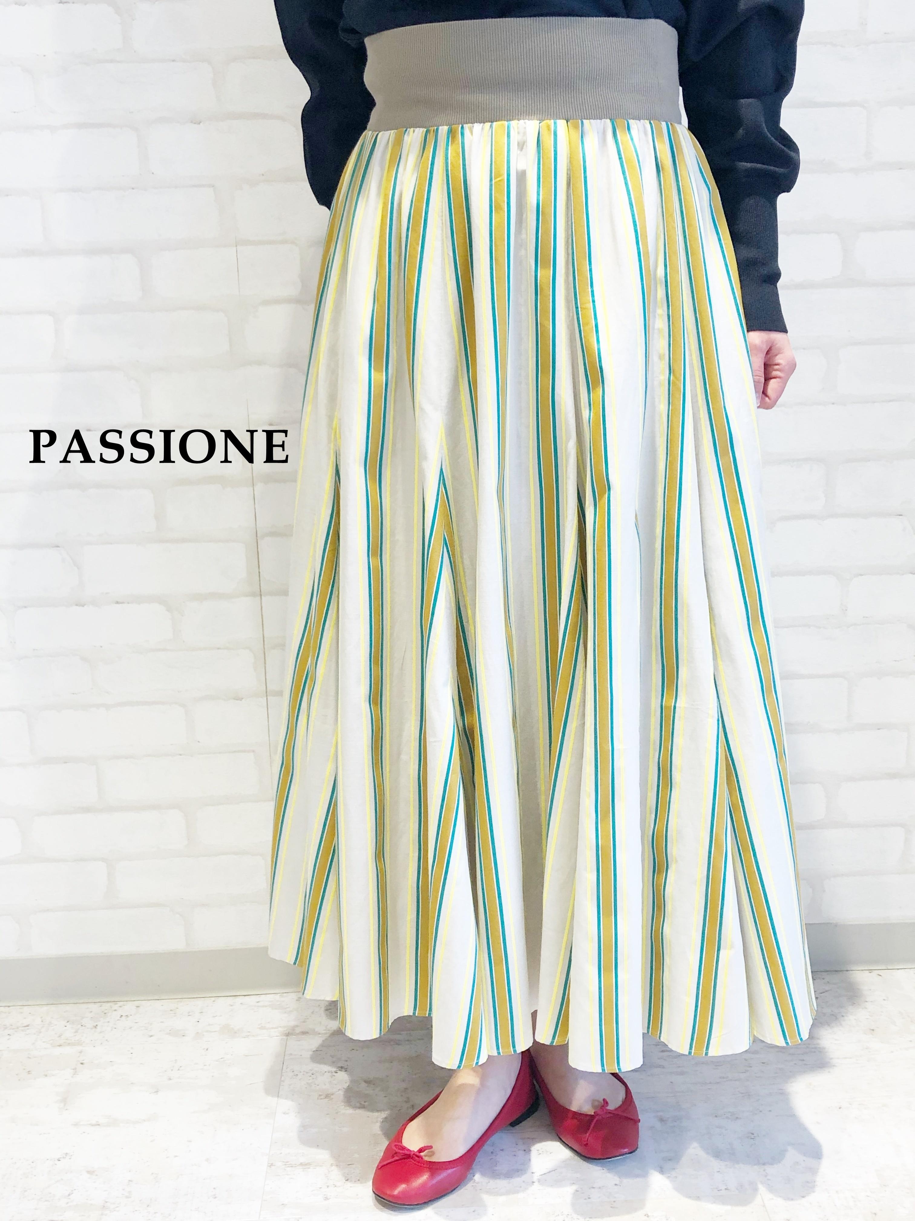 PASSIONE/フレアーロングスカート/116637(イエロー)