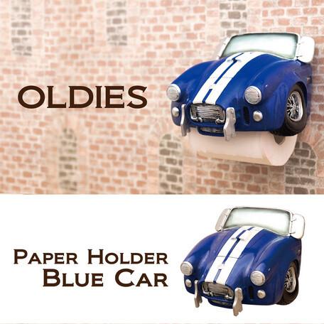 オールディーズ ペーパーホルダー BLUE CAR★