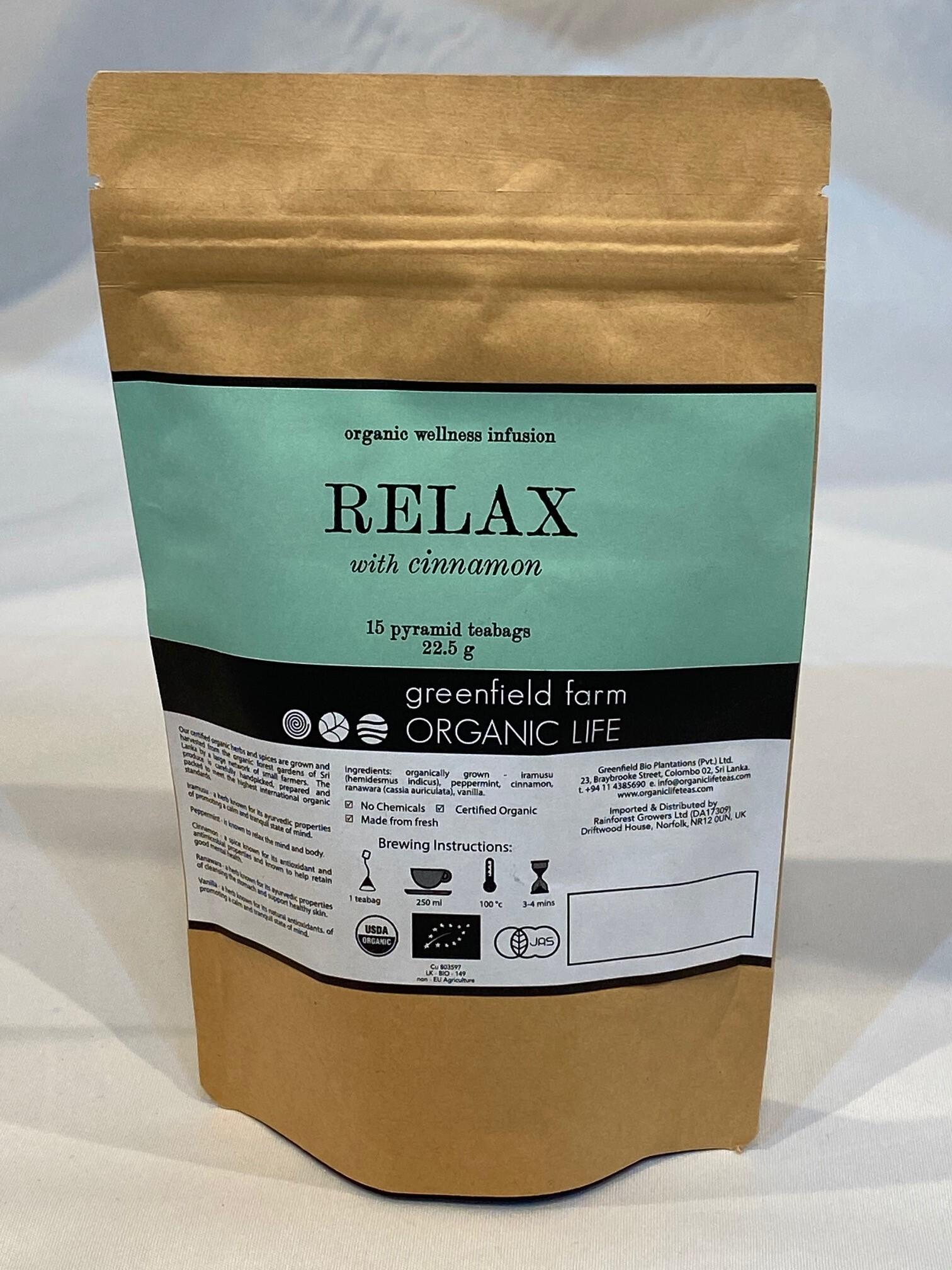 """organic life """"Relax with Cinnamon""""「リラックス・ハーブティー」"""