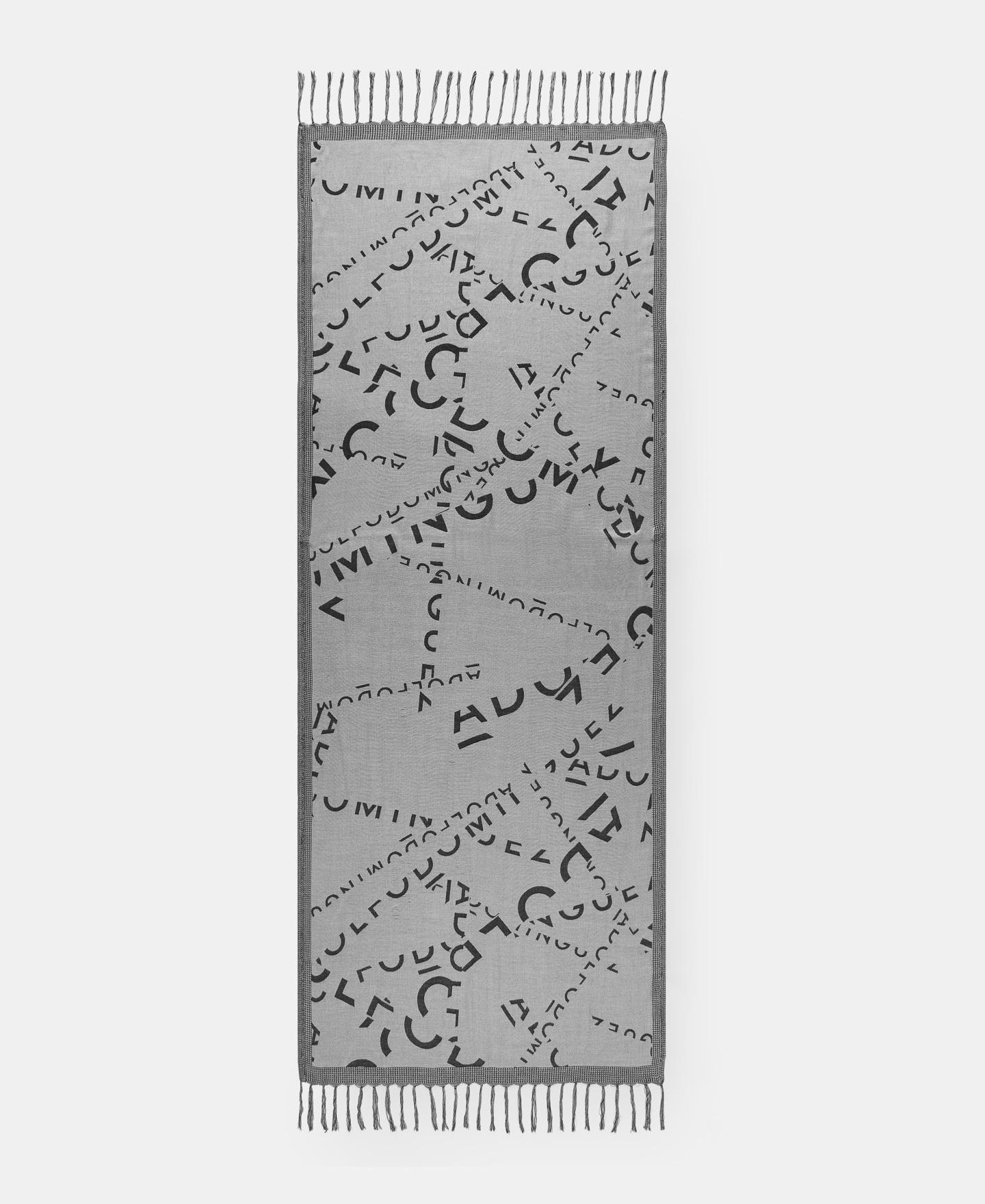 JACQUARD SHAWL WITH SPLASHED LOGO [232682886102]