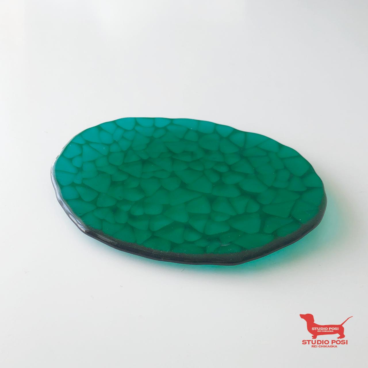 アジサイ - 楕円平皿