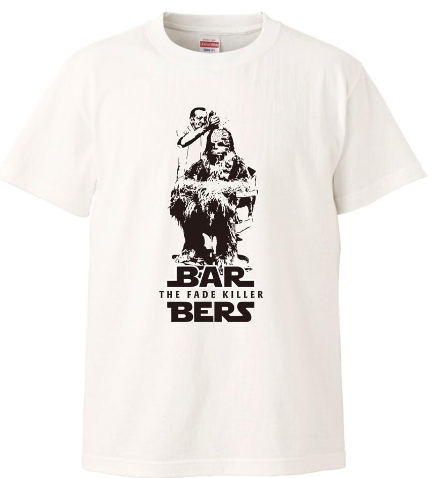 THE FADEKILLER BARBERS チューバッカTシャツ ホワイト各サイズ