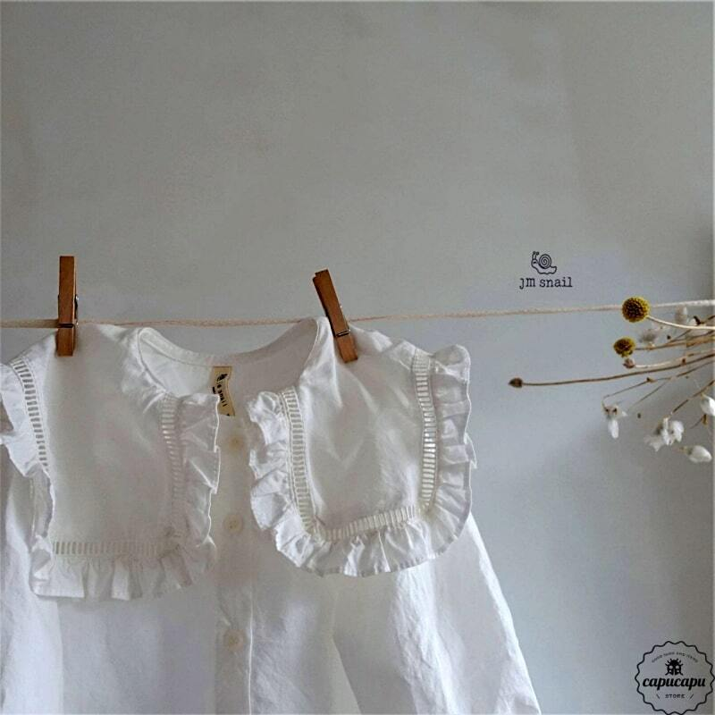 «sold out» frill blouse フリル襟ブラウス