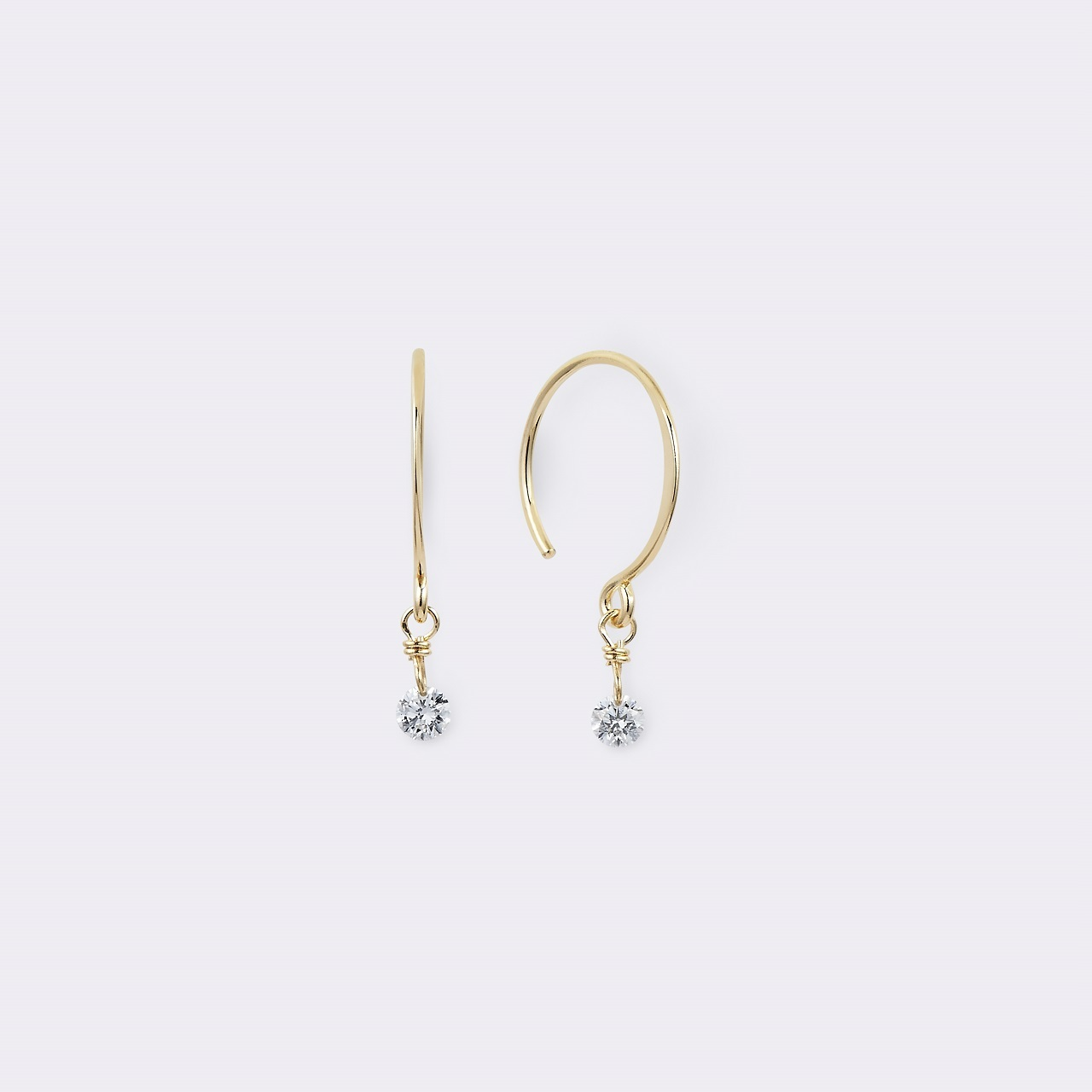 Diamond Hook pierce K18YG(ダイヤモンドフックピアス K18イエローゴールド)