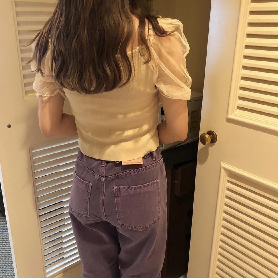 【SSC atelier】see-through puff tops (beige)