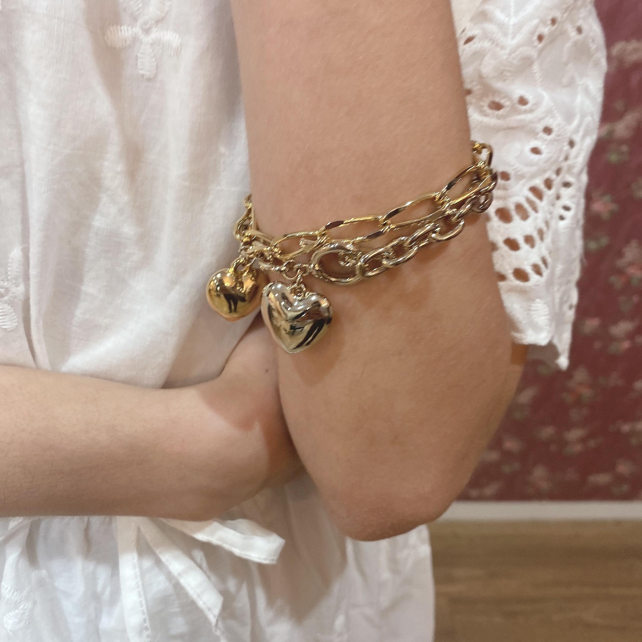 【LAST1】heart charm bracelet