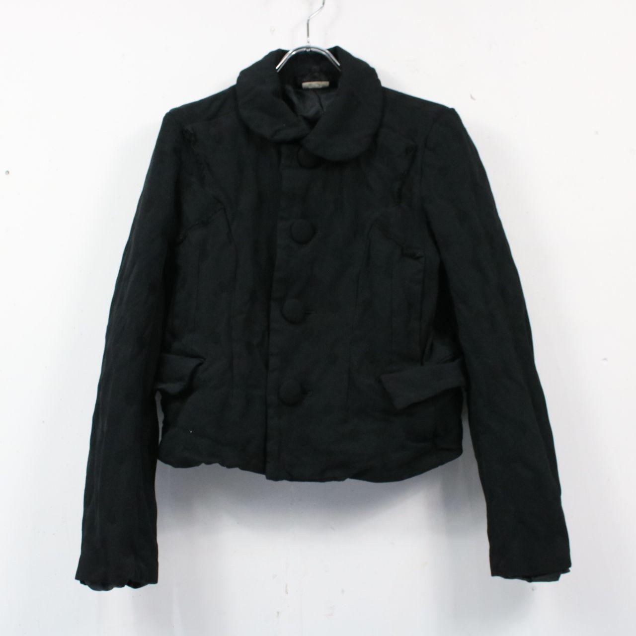 COMME des GARCONS / コムデギャルソン   2007SS   ポリ縮絨ラウンドカラードットジャケット   S   ブラック