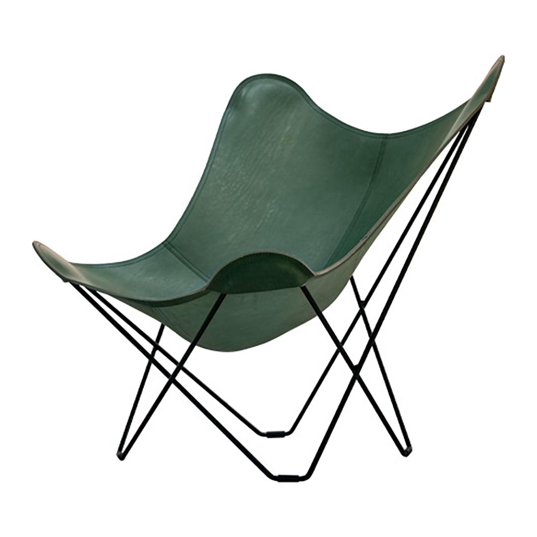 BKF Chair バタフライチェア Green leather[cuero]