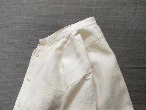 belgium-farmers h/s linen shirt / frenchwhite