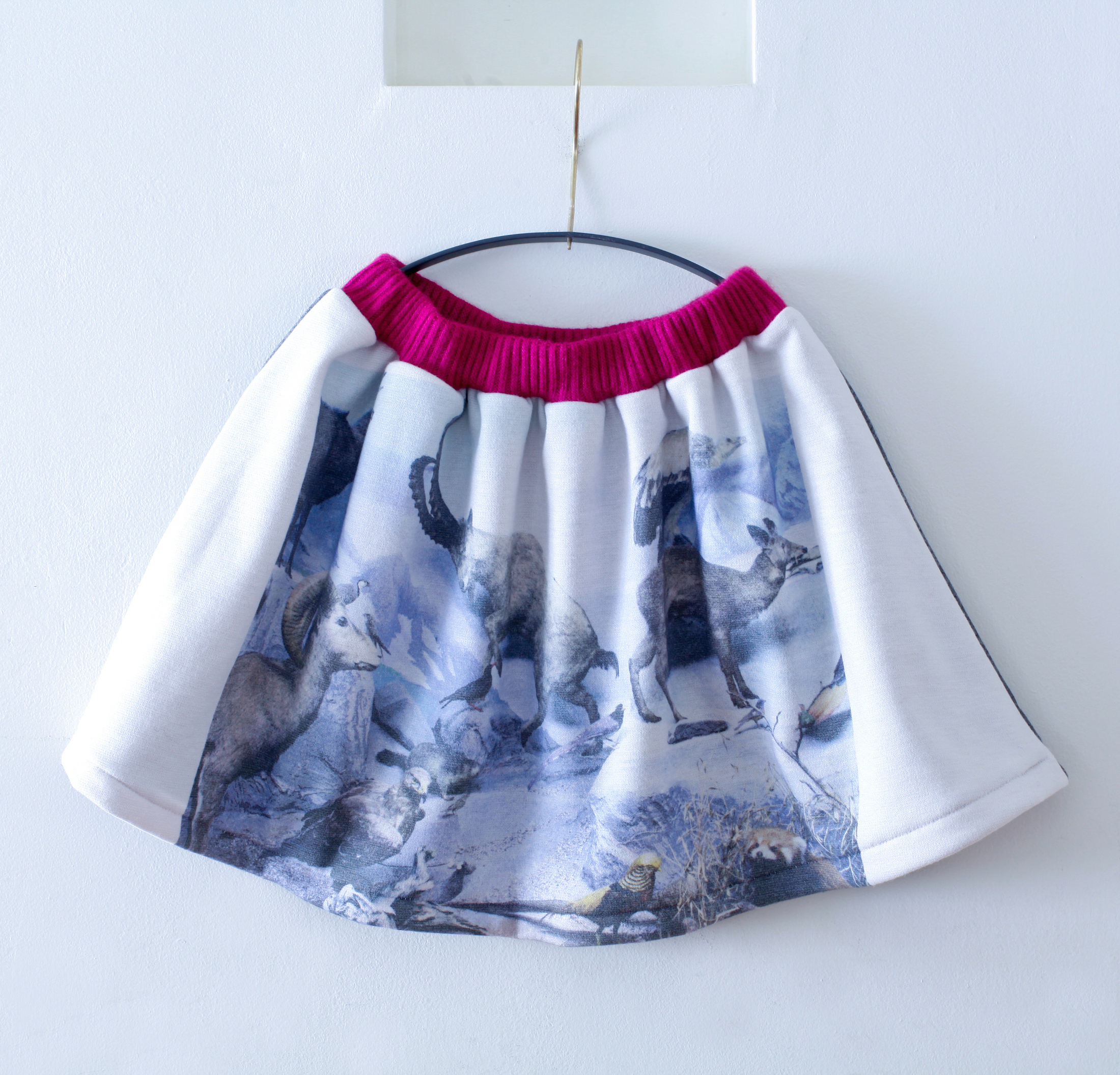 《michirico 2015AW》winter animals skirt / navy / S・M