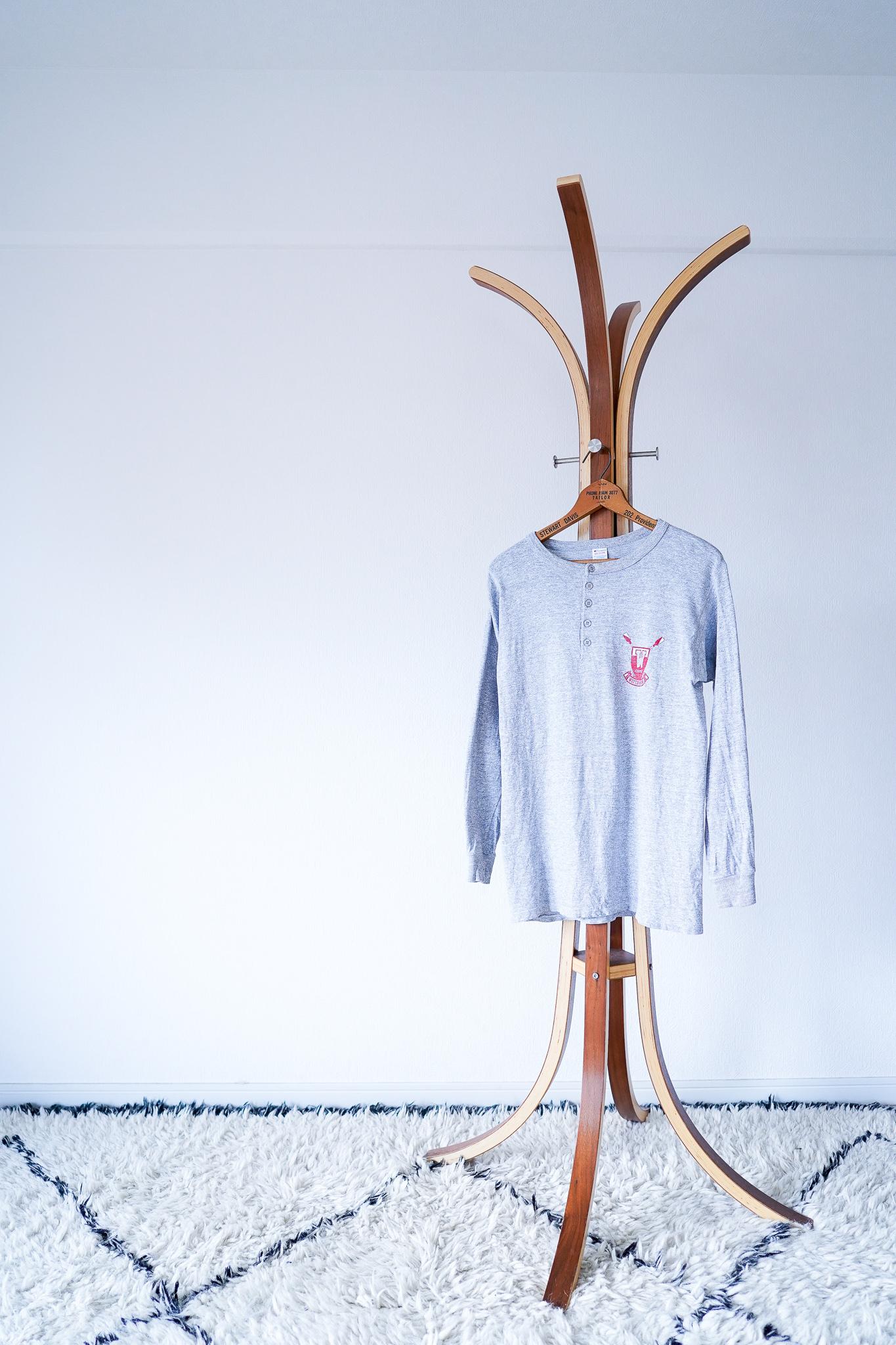 """【1980s】""""Champion"""" Henry-neck 88/12 Cut & sew / v625y"""