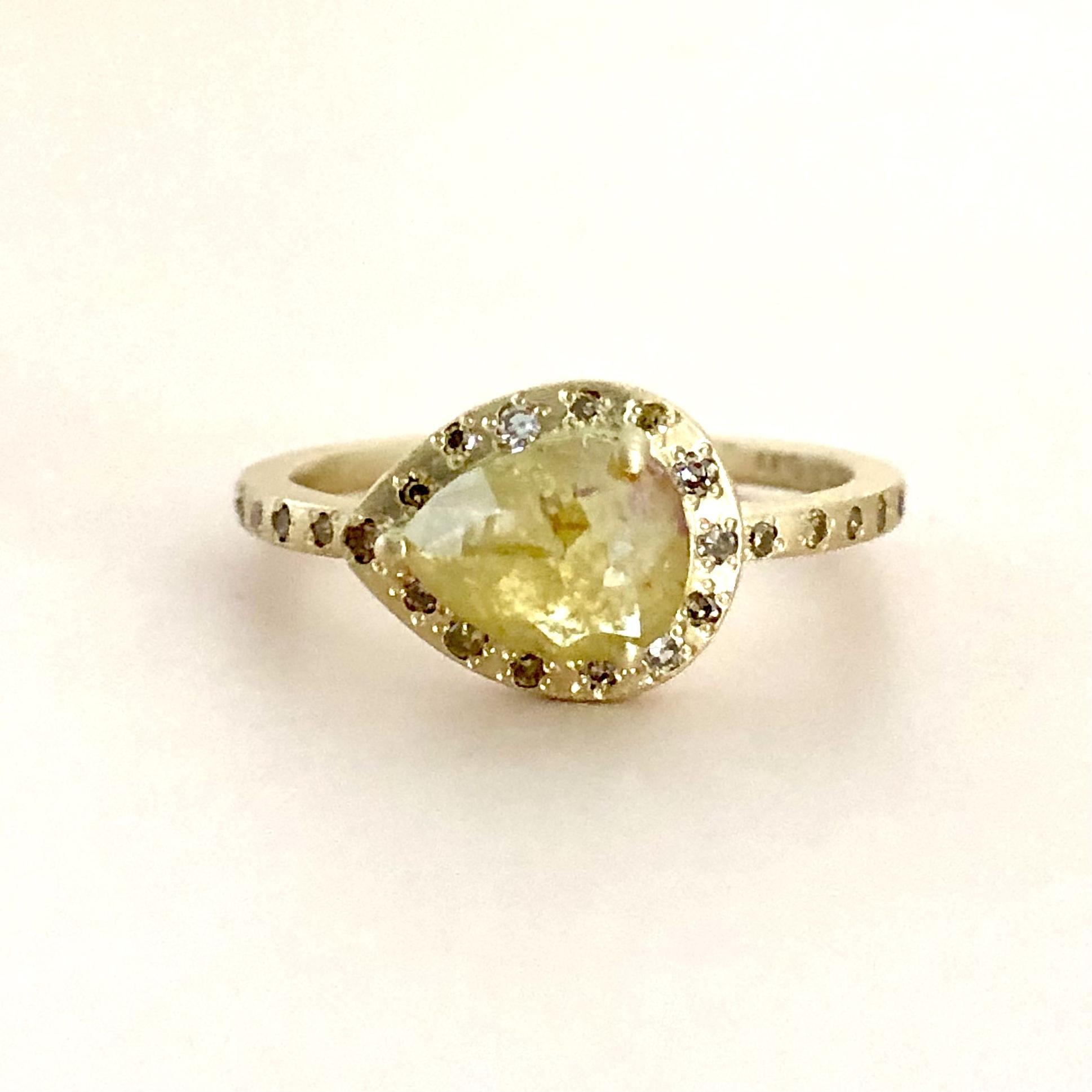ナチュラル  ダイヤモンド リング  BD 0.733ct  K18イエローゴールド チェカ 鑑別書付