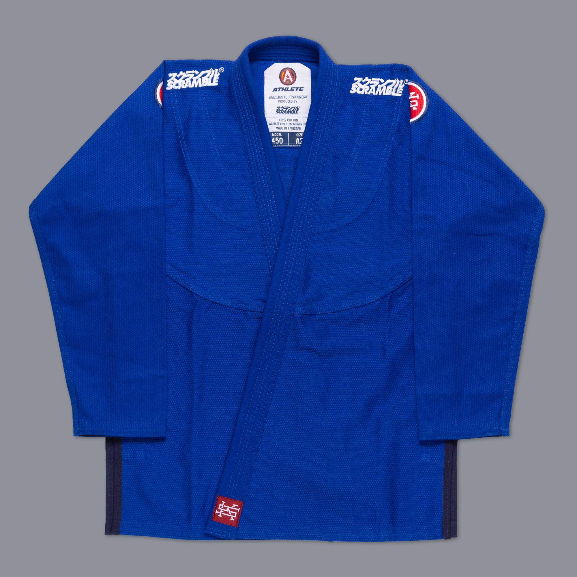 女性用 SCRAMBLE ATHLETE 4: 450(女性用カット / ブルー、青) 女性用ブラジリアン柔術衣