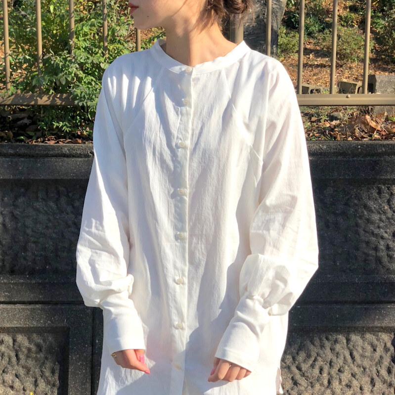 【 Days 】- 120-1399 - ロングリブカフスバンドカラーシャツ