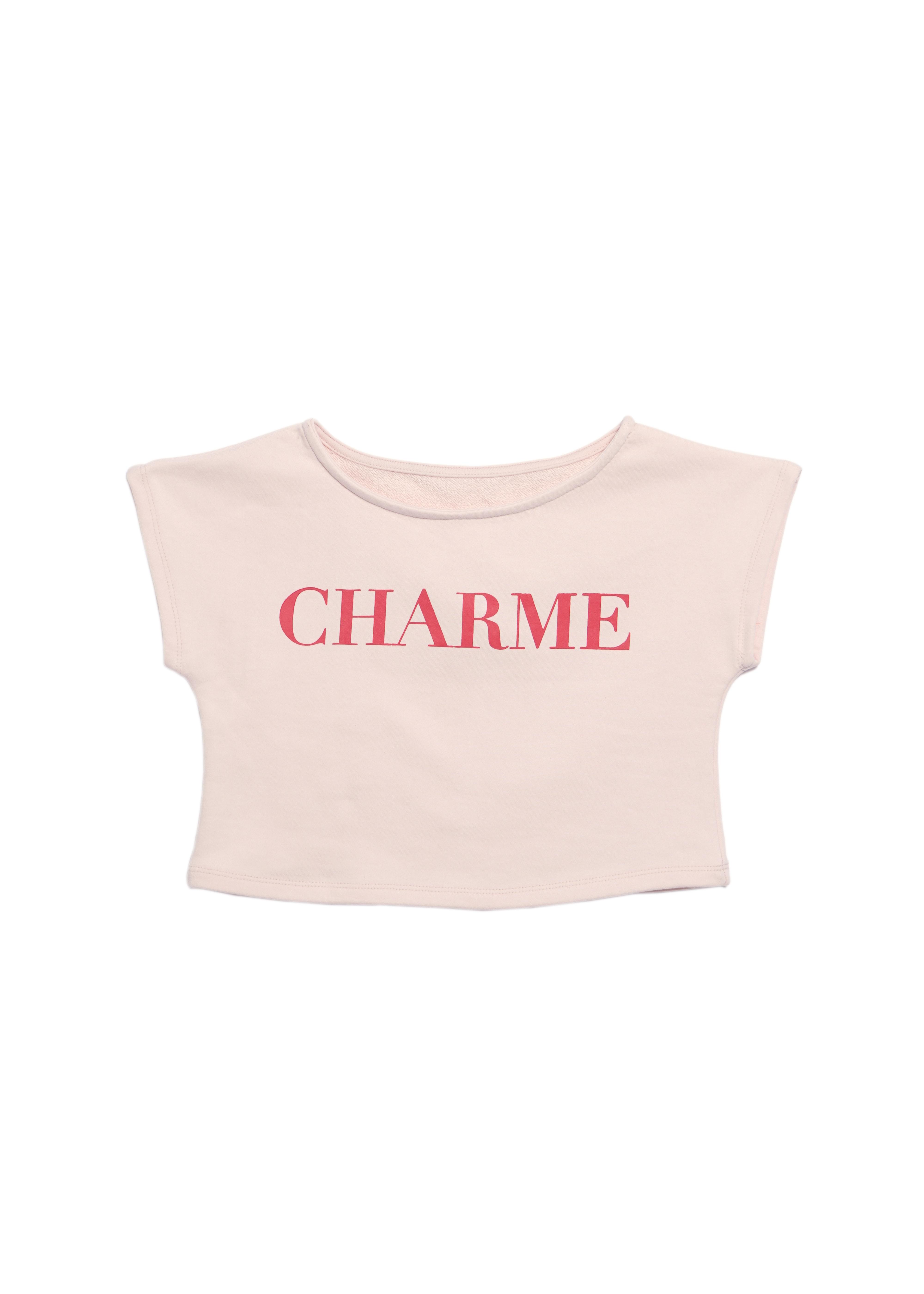 CHARME rogo short tee(pink)