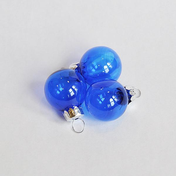 クリスマスオーナメントボール3個セット(透明ブルー)