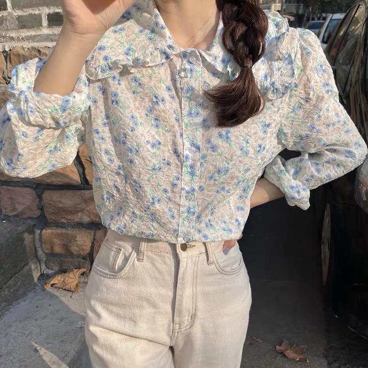 スプリングフラワーシャツ