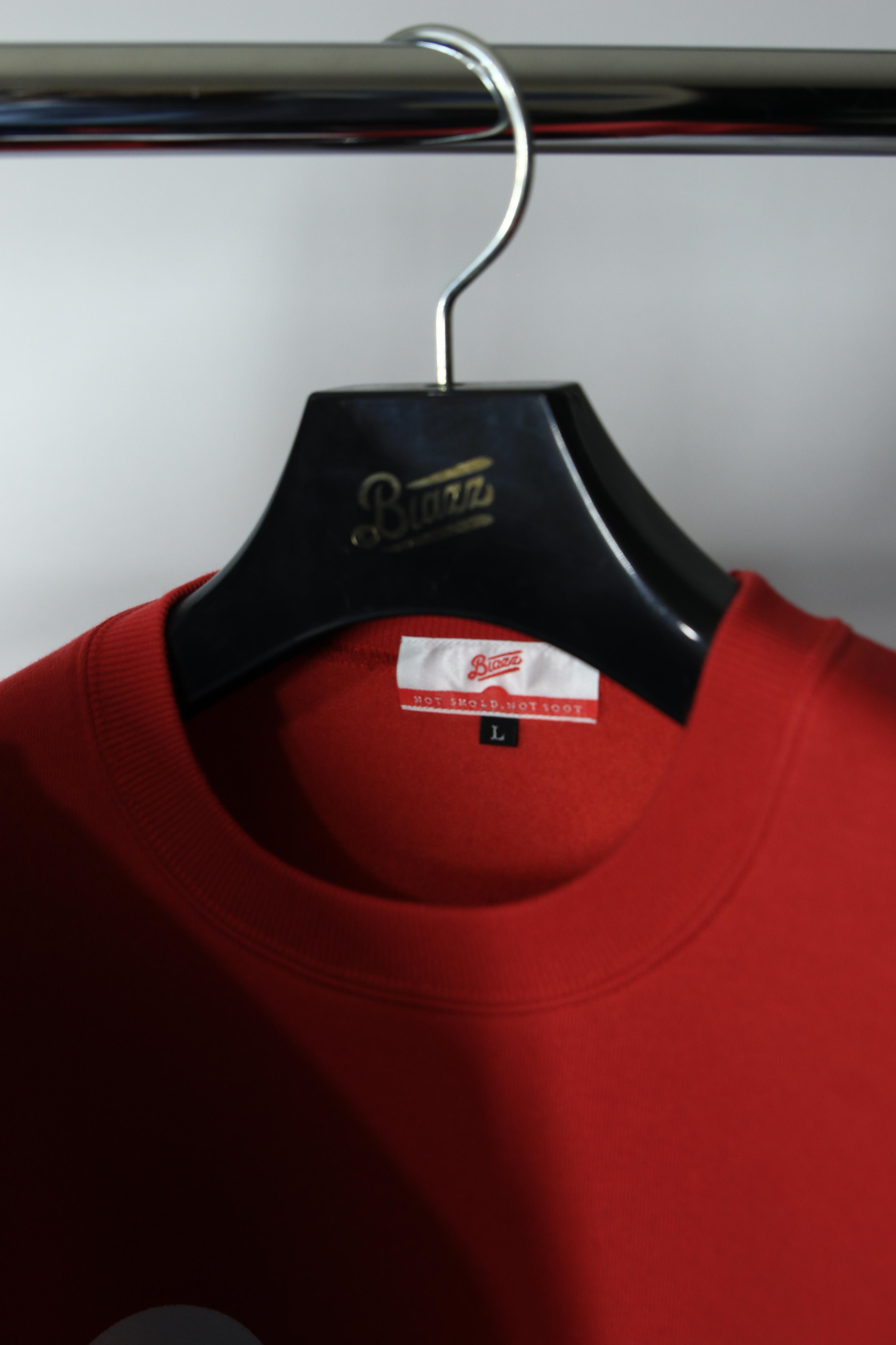LOGO CREW NECK SWEATSHIRT [RED/WHITE]