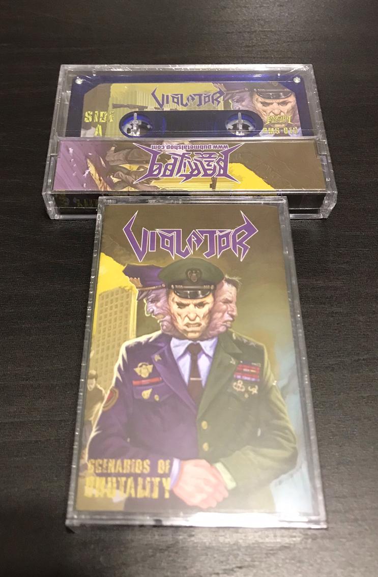 """VIOLATOR """"Scenarios of Brutality"""" Cassette"""