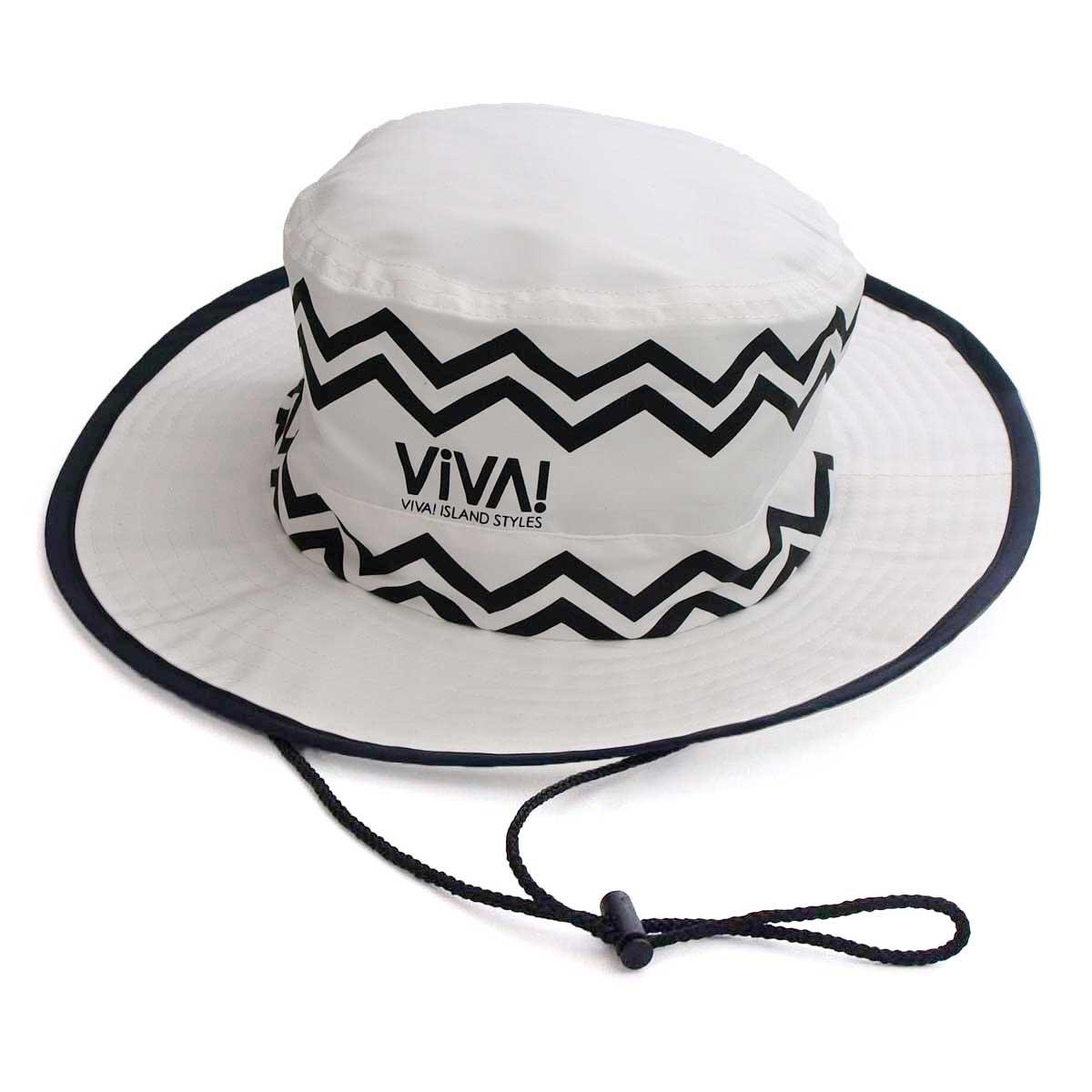 VIVA! ISLAND ビバアイランド VACANCES HAT (ストライプ バカンスハット/ホワイト V-916001)