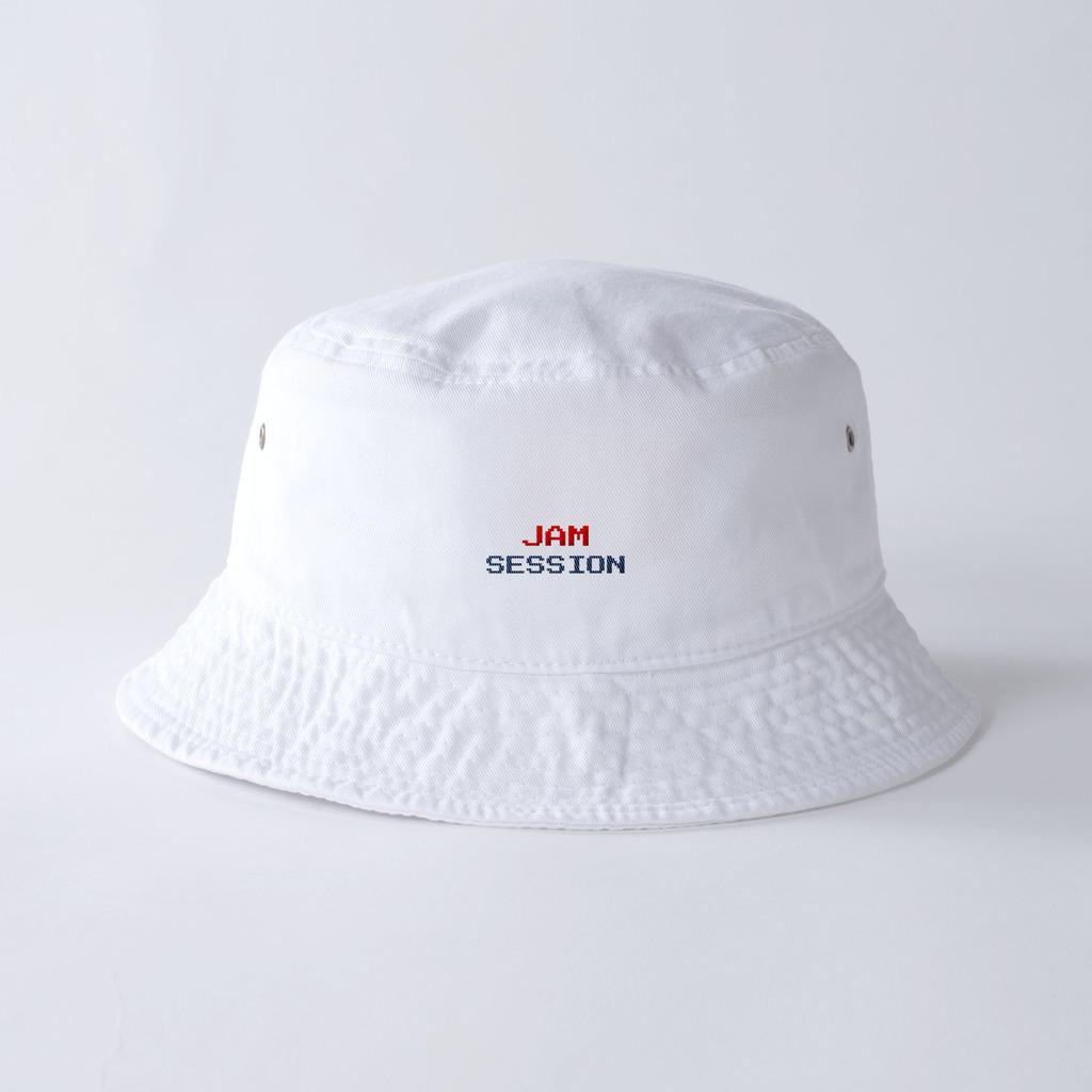 JAM SESSION BUCKET HAT (WHITE)