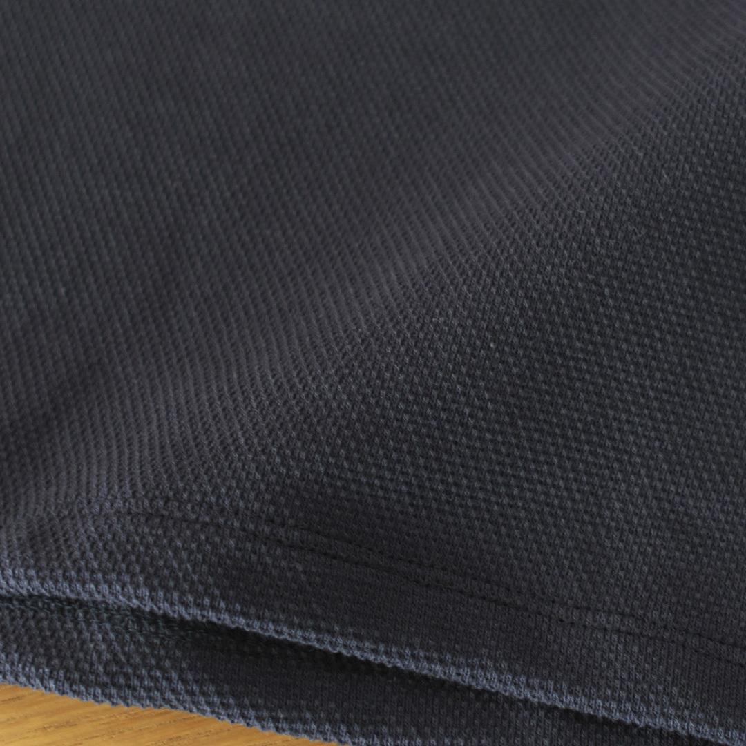 Manual Alphabet マニュアルアルファベット kanoko tee 鹿の子Tシャツ・スミ黒【メンズ】
